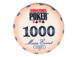 Poker chip WSOP hodnota 1 000