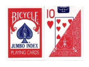 Pokrové hracie karty Bicycle červené veľký index