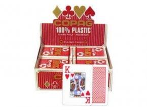 Pokrové hracie karty Copag červené 2x veľký index