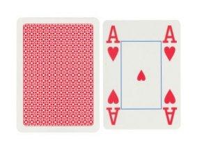 Pokrové hracie karty Copag červené 4x veľký index