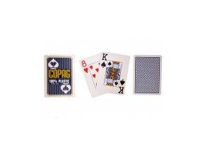 Pokrové hracie karty Copag modré 2x veľký index