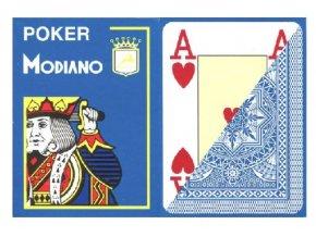 Pokrové hracie karty Modiano svetle modré veľký index