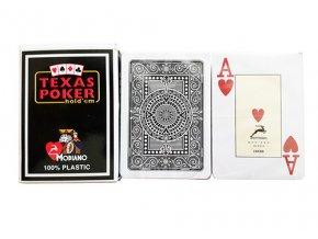 Pokrové hracie karty Modiano Texas Poker čierne veľký index