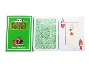 Pokrové hracie karty Modiano Texas Poker svetlo zelené veľký index