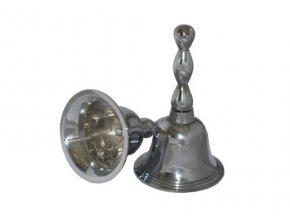 Retro zvonček chrómový
