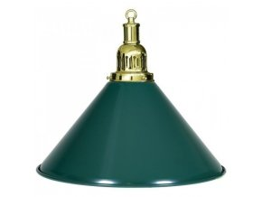Biliardová lampa zelená 1 tienidlo komplet